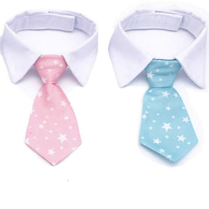 Adjustbale Size Gentle Striped Pet Collar Tie Fashion Necktie for Dog Cat Party Accessories