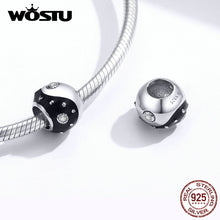 将图片加载到图库查看器,Wostu Silver 925 Bead for Making Jewelry S925 Sterling Silver Crystal Heart Charm Fit Diy Bracelet