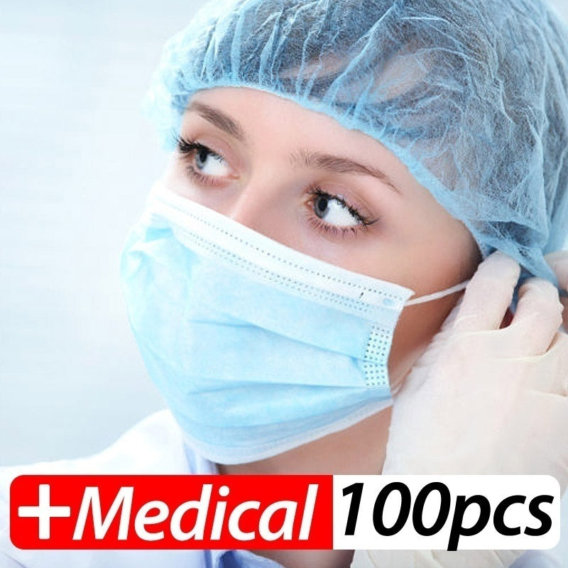 Profession Medical Mask 100Pcs/Pack Medical Surgical 3-Ply PM2.5 N95 Face Mask