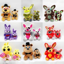 Load image into Gallery viewer, New Arrival 9 Styles Five Nights At Freddy's  FNAF Plush Toys Freddy Bear Foxy Chica Bonnie Plush Stuffed Toys Doll for Kids Gifts