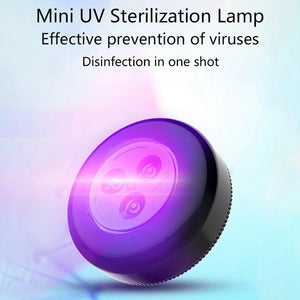 Rechargeable Portable Uv Steriliser Light Ultraviolet Ozone Germicidal Lamp Ultraviolet Disinfection Lamp For Car Household Room Kitchen Deodorization