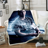 3D Fast and Furious Paul Walker Blanket for Beds Hiking Picnic Thick Quilt Fashionable Bedspread Fleece Throw Blanket Y09