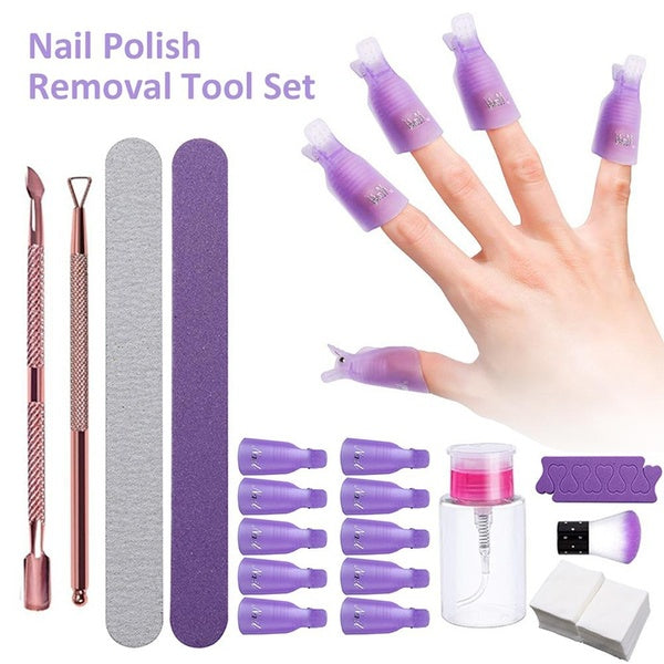 Nail Polish Removal Tool Soak Off Cap Clip UV Gel Polish Remover Wrap Polishing Strips Nail Tools For Remover Gel Nail Polish