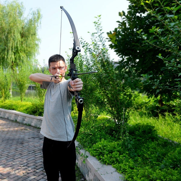 2020 Hunting Bow 70 Lbs Powerful Straight Pull Bow and Arrow Single Needle Sight Hunting Recurve Compound Bow Archery (No Arrows)