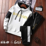 2020 Newest Fashion Men's Jogging Hoodie Sweatpants Set Pullover Sweat Pants Sports Tracksuit Plus Size XS-4XL