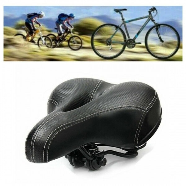 Universal Bike Extra Wide Comfy Cushioned Bicycle Gel Saddle Seat Soft Padded