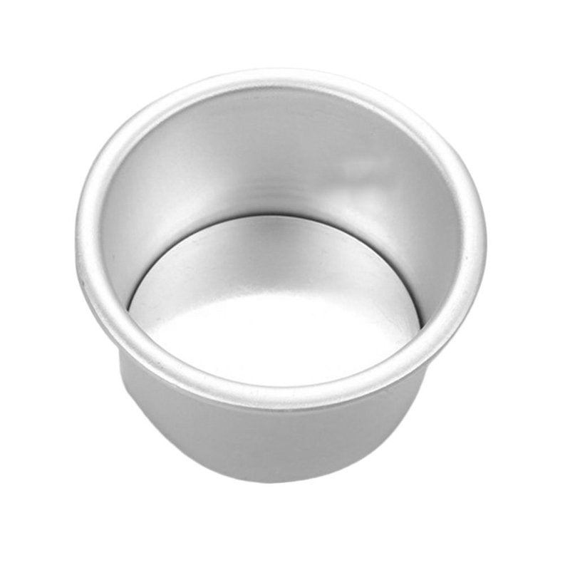 New 1/2Pcs Aluminum Alloy Round Mini Cake Pan Removable Bottom Pudding Mold DIY Baking Kitchen Tools