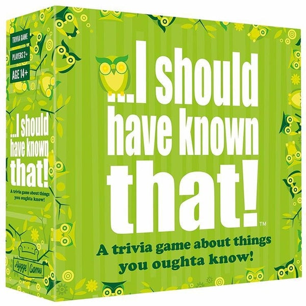 The Super Game I Should Have Known That! Trivia Game Deck Card Games Adult and Teen Strategy Card Game and Party Board Game  Trivial games