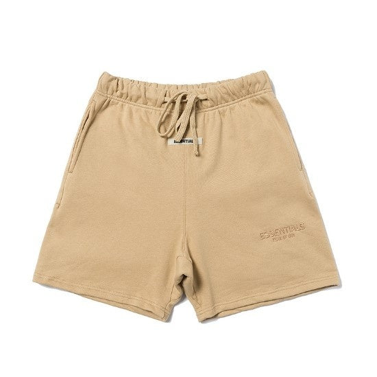 19SS Fear of God Drawstring Shorts Summer Justin Bieber Season 6 Essentials Embroidery Shorts Jogger Kanye West Short Pants
