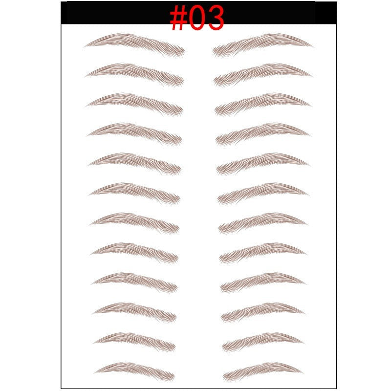 2020 New 10 Pairs/Sheet Magic 4D Hair-Like Eyebrow Tattoo Sticker Waterproof Lasting Makeup False Eyebrows Stickers Cosmetics