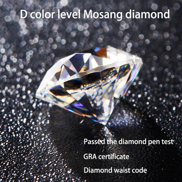 Made In The USA 6A Mosang Diamond D Color  VVS Purity Eight Stars and Eight Arrows Cut Round Wedding Valentine Gift Bright White Gemstone