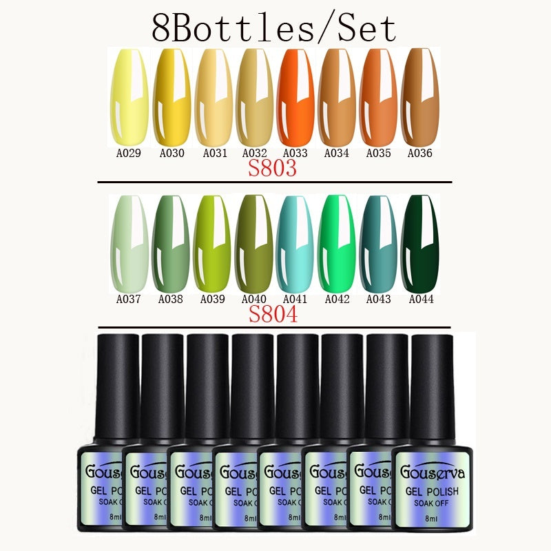 2020 Hot Sale 8ml Holographic Gel Solid Color Soak Off Nail Art UV Gel Nail Polish combination