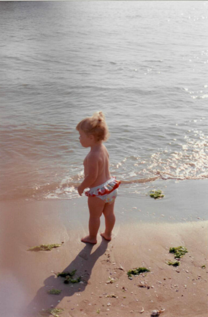 The author as a child on the beach