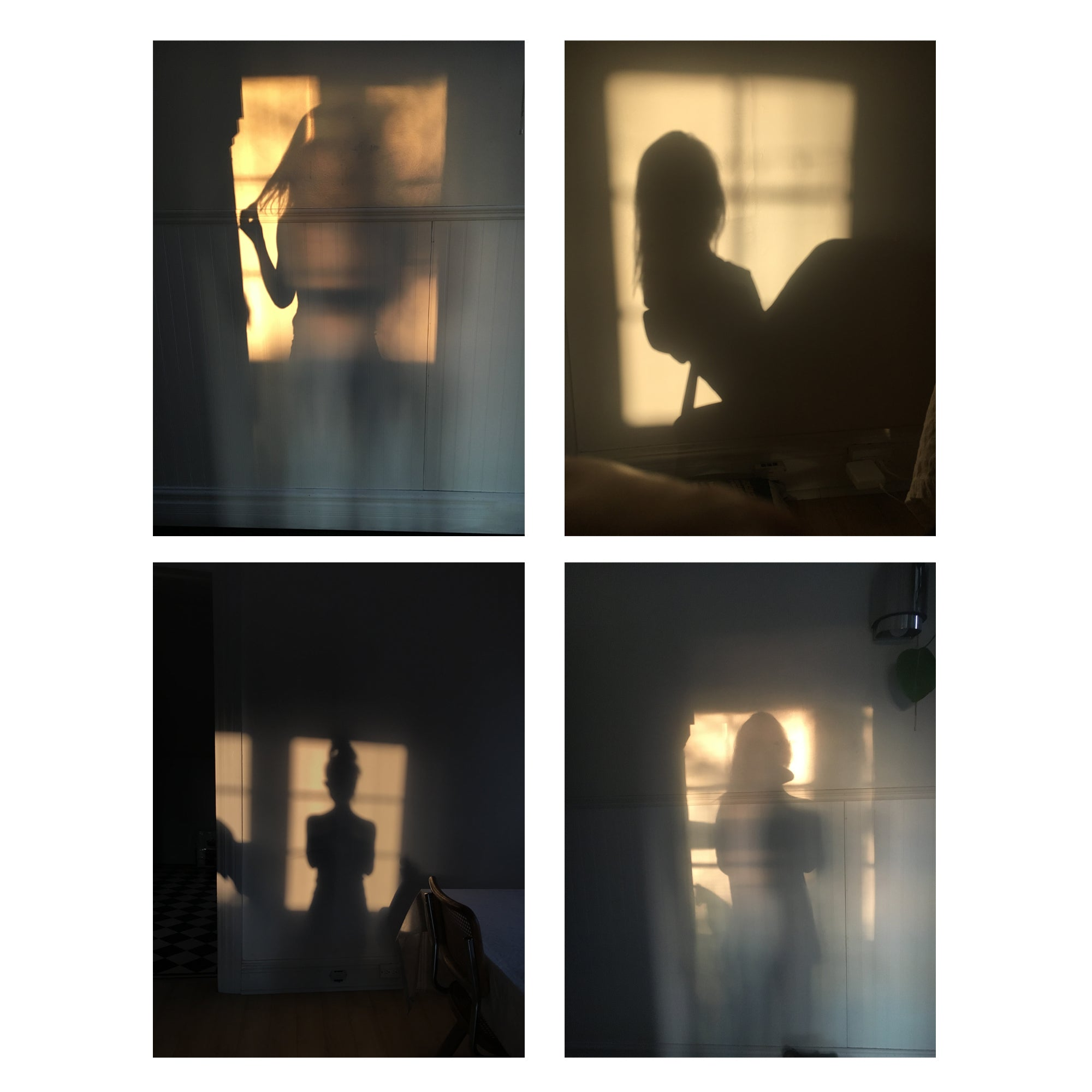 Lauren Kolyn - Various images taken at home in the evening light of my apartment. 2017-2020.