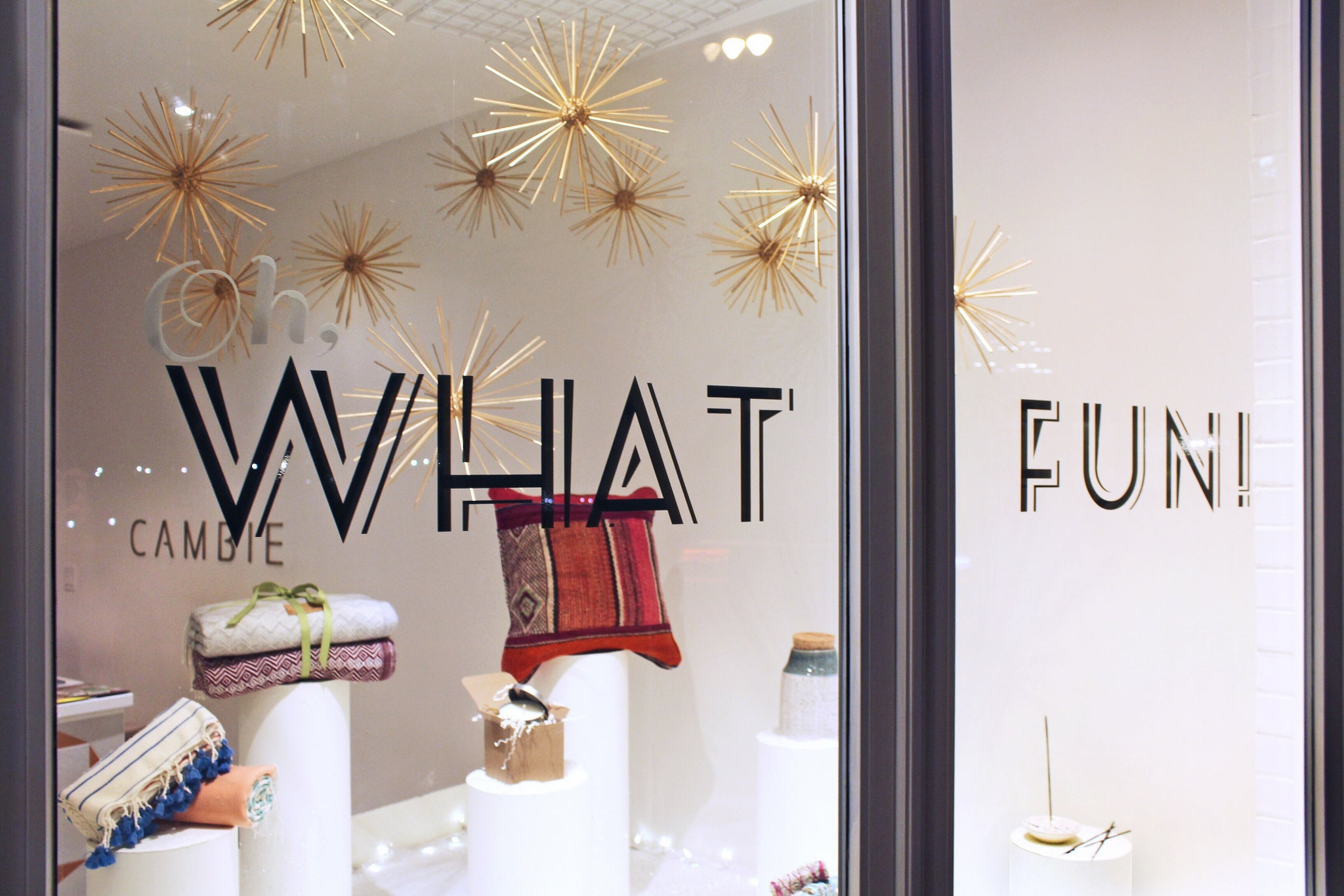 Cambie Design window display