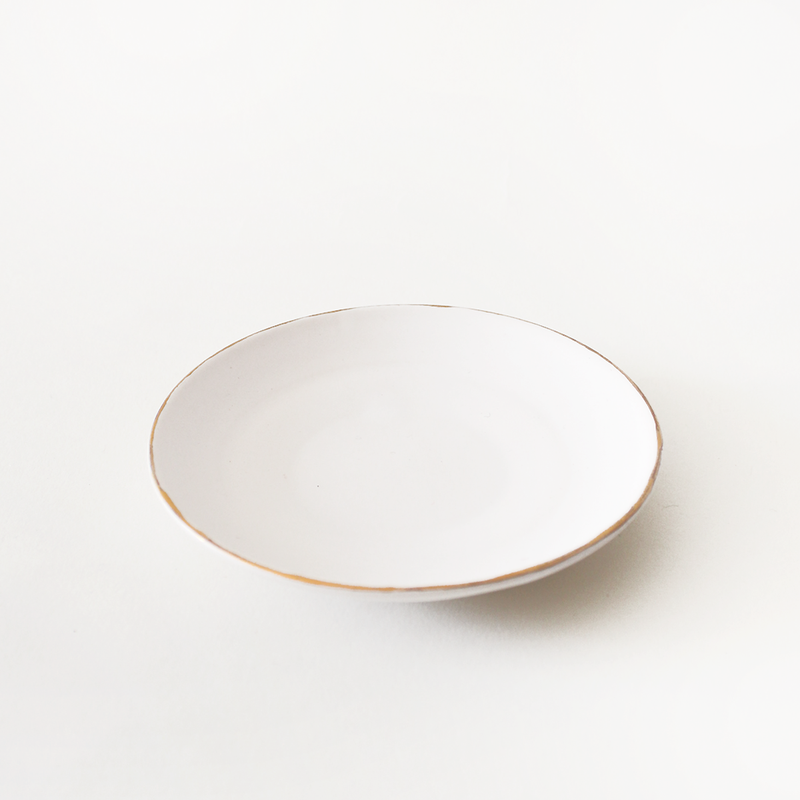 Gold Rim Ceramic Dish