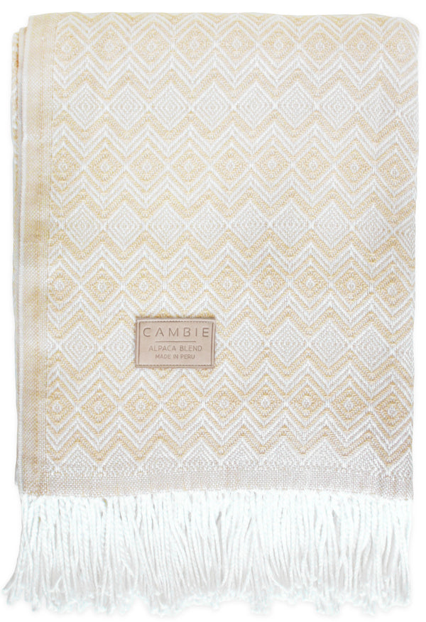 Beige & White Blanket