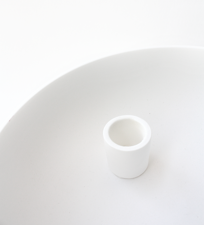 White Candle Holder Bowl