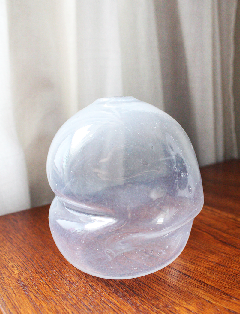 Milky Glass Bubble Vase
