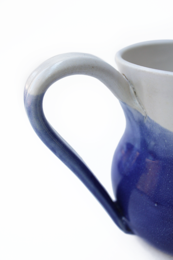 Vintage Blue Ceramic Pitcher