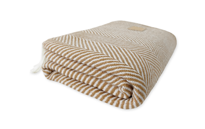 Chestnut & White Blanket