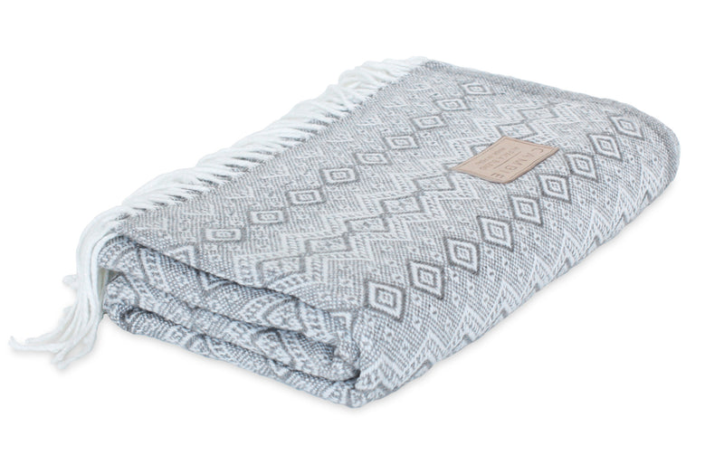 Grey & White Blanket
