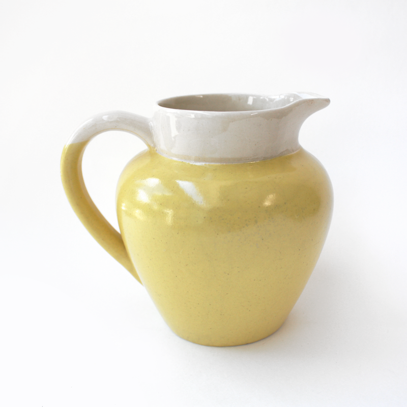 Vintage Yellow Pitcher