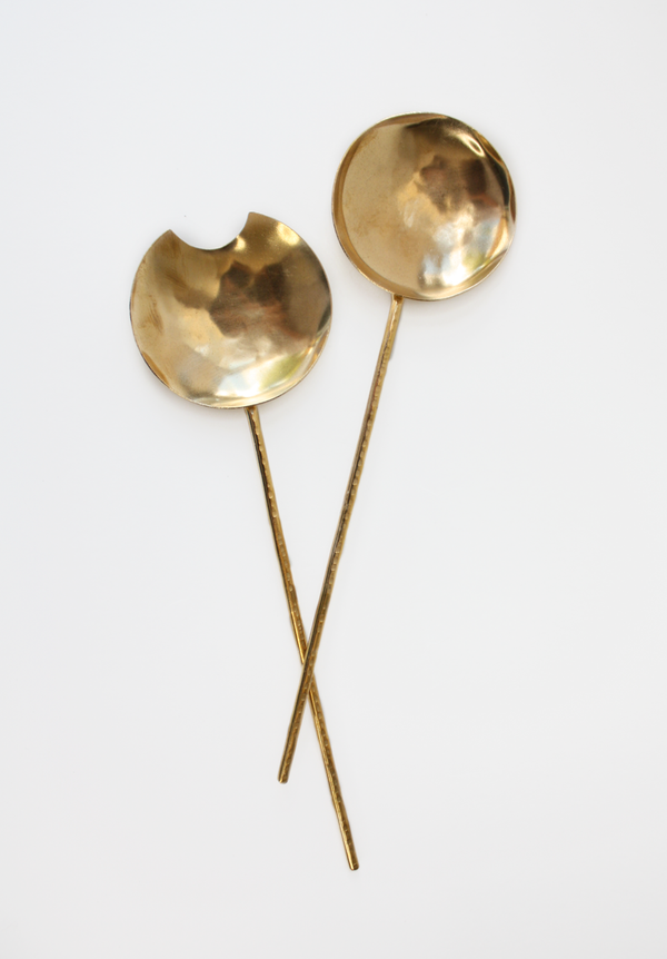 Brass Serving Spoons Set