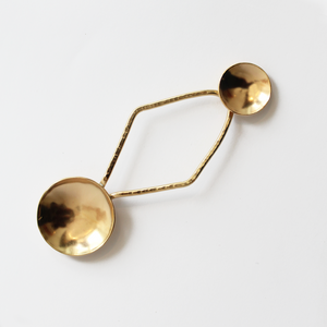 Double Brass Spoon