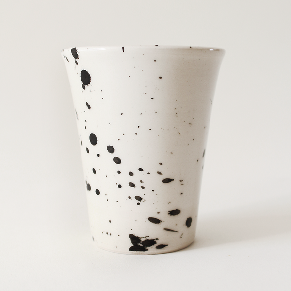 Black Splatter Tumbler