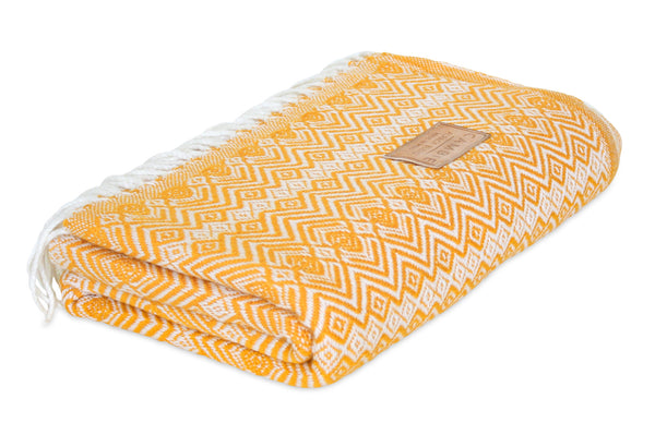 Yellow & White Blanket