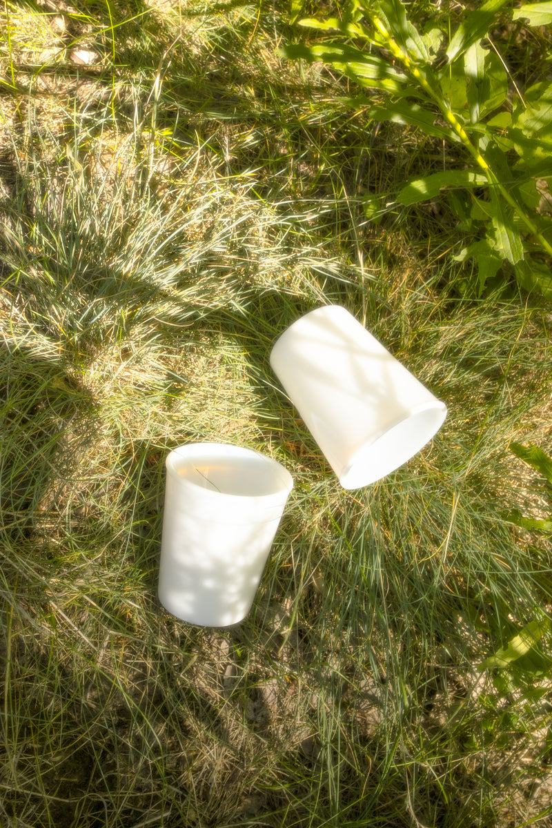Vintage Milk Glass Tumblers