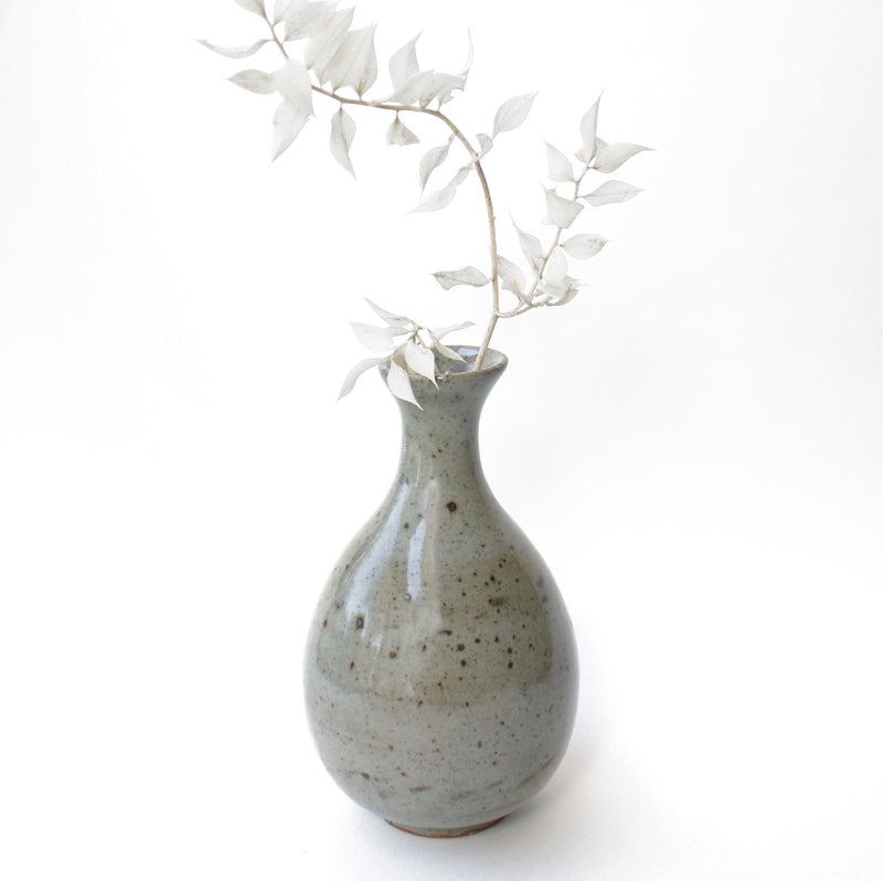 Vintage Speckled Grey Vase