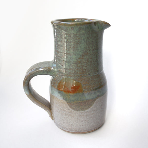 Vintage Grey Ceramic Pitcher