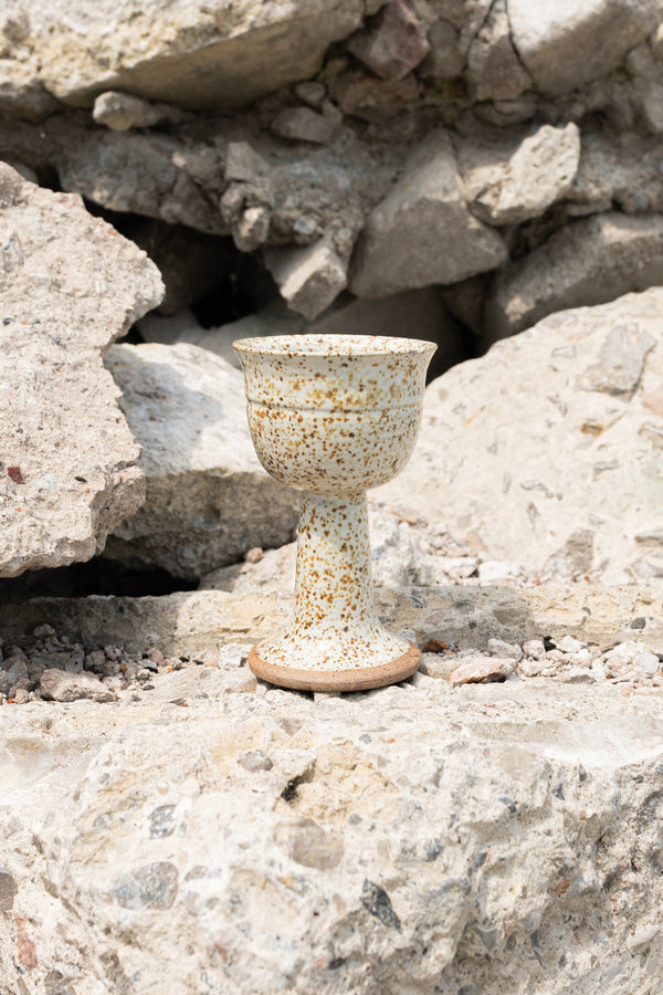 Speckled Ceramic Goblet