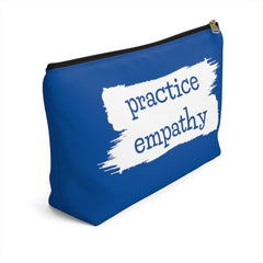 Accessory Pouch, Brushes Logo, royal blue-Bags-Practice Empathy