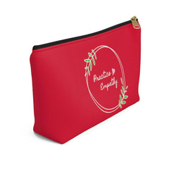 Accessory Pouch, Olive Branch Logo, fire engine red-Bags-Practice Empathy