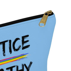 Accessory Pouch, Rainbow Logo, Carolina blue-Bags-Practice Empathy