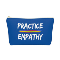 Accessory Pouch, Rainbow Logo, royal blue-Bags-Practice Empathy