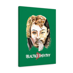 Akin, Canvas Gallery Wrap, forest green-Canvas-Practice Empathy