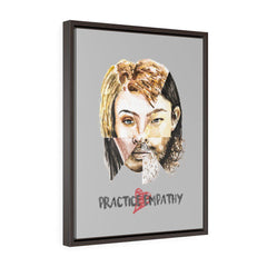 Akin, Premium Framed Canvas, light gray-Canvas-Practice Empathy