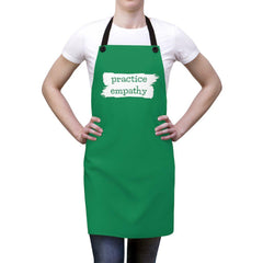 Apron, Brushes Logo, forest green-Accessories-Practice Empathy