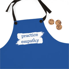 Apron, Brushes Logo, royal blue-Accessories-Practice Empathy