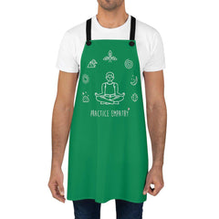 Apron, Mantras of the Mind, male, forest green-Accessories-Practice Empathy