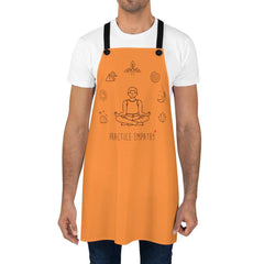 Apron, Mantras of the Mind, male, orange-Accessories-Practice Empathy