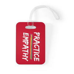 Bag Tag, Rainbow Logo, deep red-Accessories-Practice Empathy