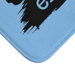 Bath Mat, Brushes Logo, Carolina blue-Home Decor-Practice Empathy