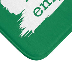 Bath Mat, Brushes Logo, forest green-Home Decor-Practice Empathy