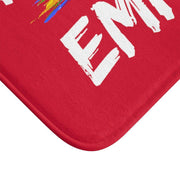 Bath Mat, Rainbow Logo, dark red-Home Decor-Practice Empathy