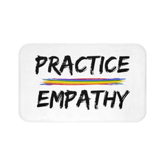 Bath Mat, Rainbow Logo, white-Home Decor-Practice Empathy